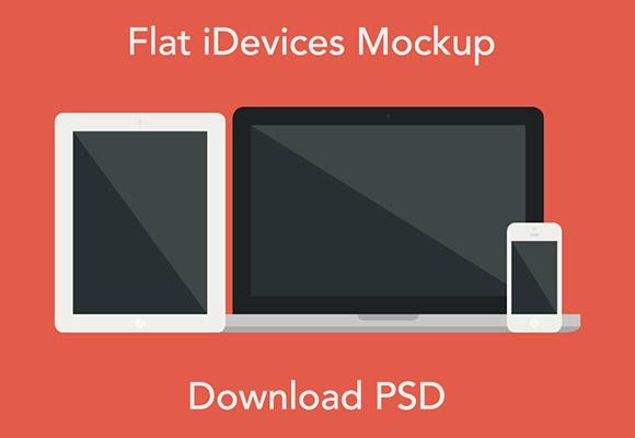 フラット iDevices モックアップ
