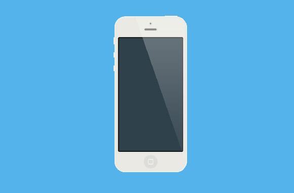 フラット ホワイト iPhone モックアップ