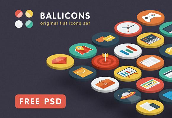 Ballicons - 15 無料 PSD アイコン