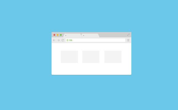 Chrome ブラウザーのフラット モックアップ