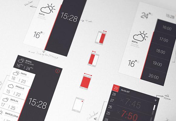天気 & 時間 PSD アプリ 2