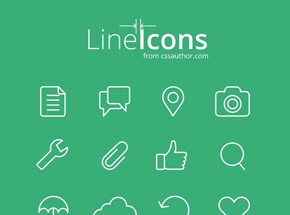 Web と UI デザインのための線のアイコン