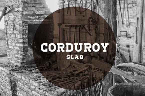 コーデュロイのスラブのフリー フォント