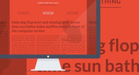 CSS3 を使ってスライドの横型レイアウト