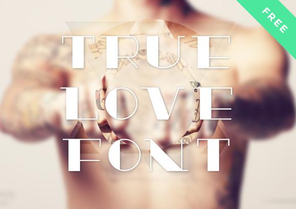 真の愛のフリー フォント