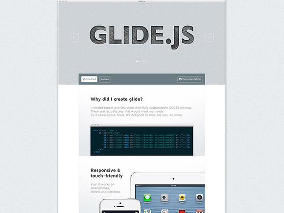 Glide.js-光応答 & jQuery スライダー