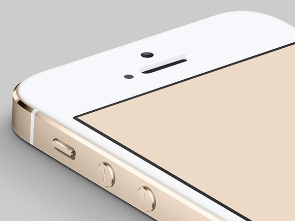 金 iPhone5S のモックアップ