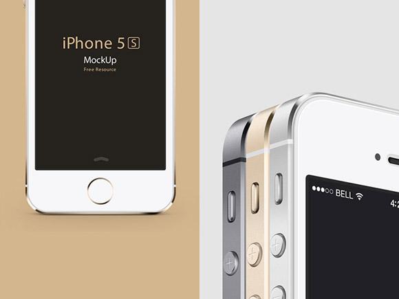 Pixeden から iPhone5S PSD モックアップ