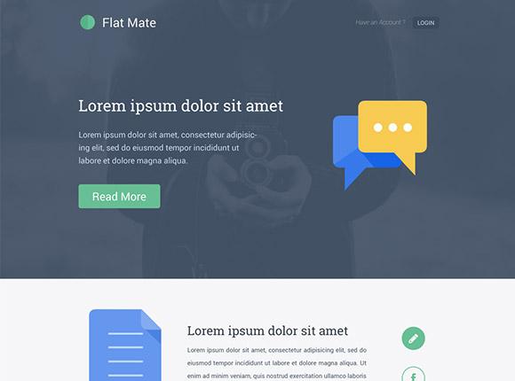 フラット メイト - 単一のページ テンプレート