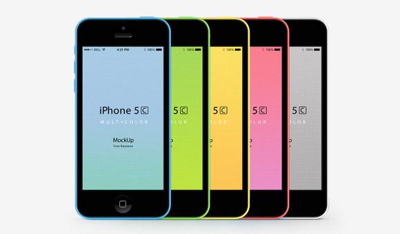 Pixeden から iPhone 5 C モックアップ