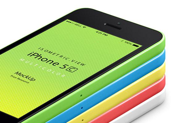 視点 iPhone5C モックアップ