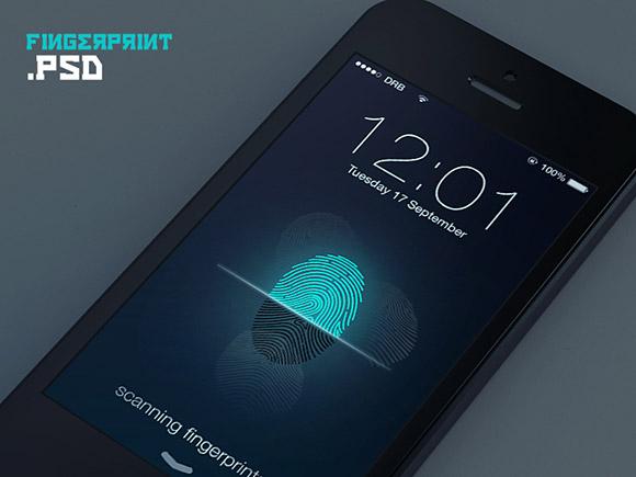 指紋ロック スクリーンのコンセプト