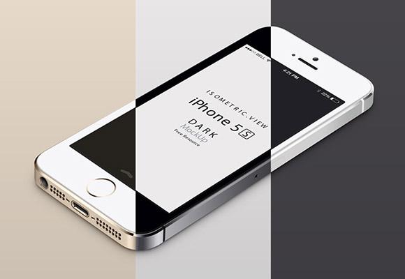 iPhone 5 s モックアップ - パース ビュー