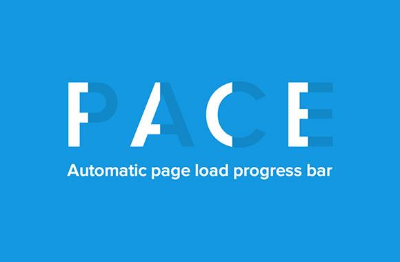 Pace.js - ウェブサイトのための進行状況バー