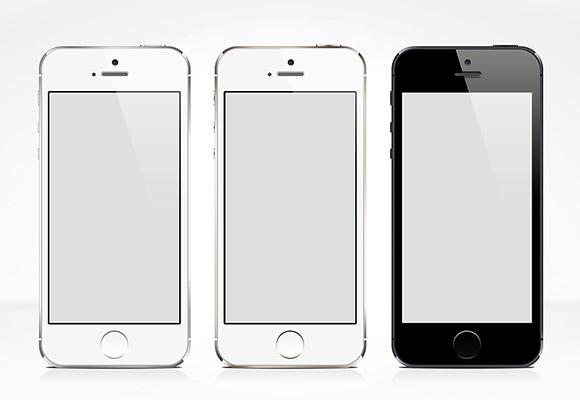 3 iPhone5S の PSD のモックアップ