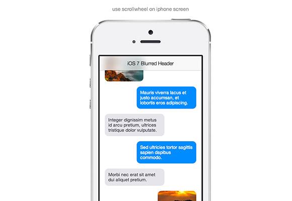 iOS7 ぼやけたヘッダー CSS + JS