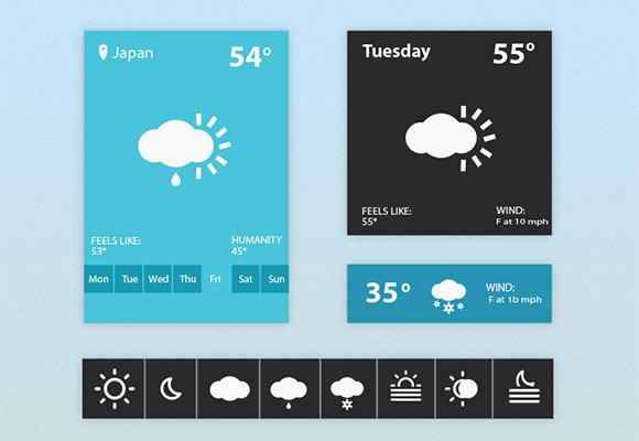 天気ウィジェット UI