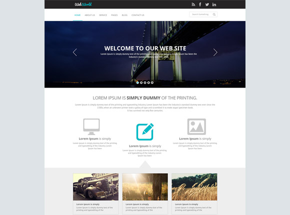 WebWorld - PSD のウェブサイト テンプレート