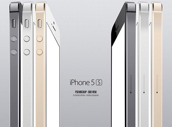 iPhone5S サイド ビュー モックアップ