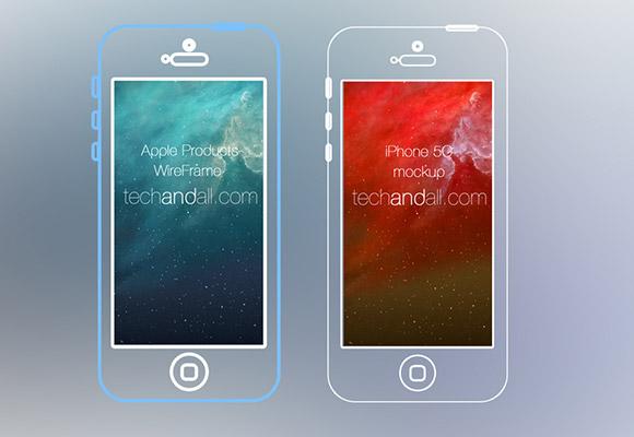 IPhone5 & アップル デバイスのワイヤー フレーム