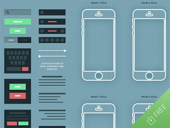 iPhone アプリのワイヤー フレーム