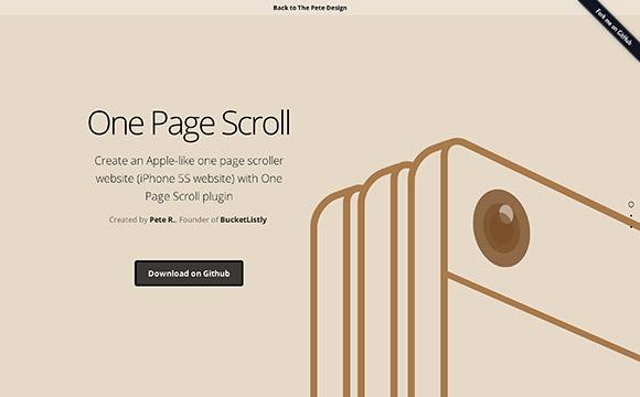 1 つのページ スクロール - jQuery プラグイン