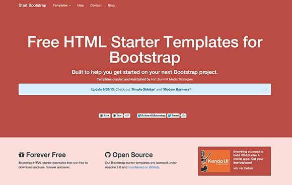 ブートス トラップ - スターター HTML テンプレートを開始します。
