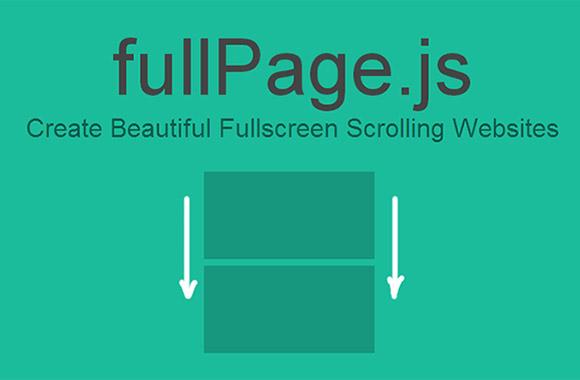 fullPage.js - フルスクリーン ページをスクロール