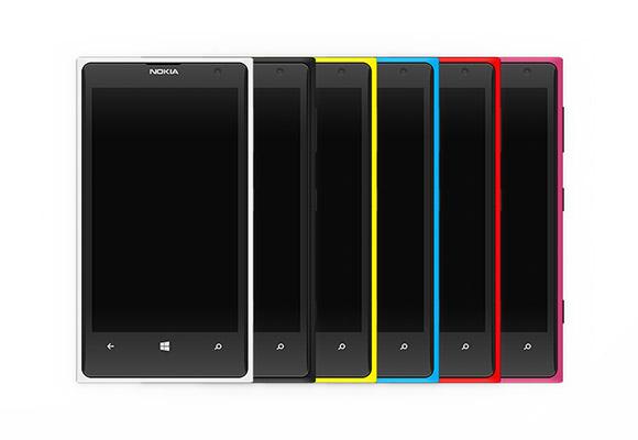 ノキア Lumia 1020 カラフルなモックアップ