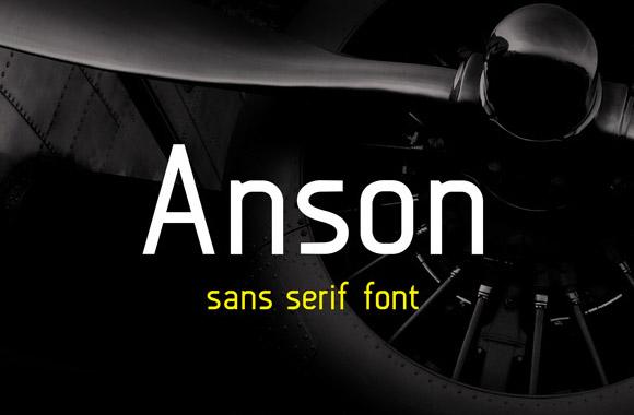 アンソン - 無料サンセリフ体のフォント