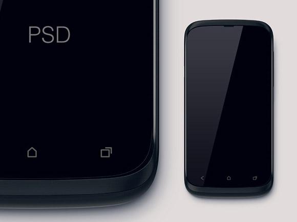 巨大な & 非現実的な HTC のモックアップ