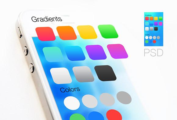 iOS7 グラデーションおよび色
