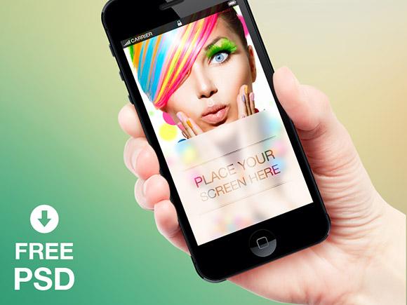 別の無料の iPhone のモックアップ