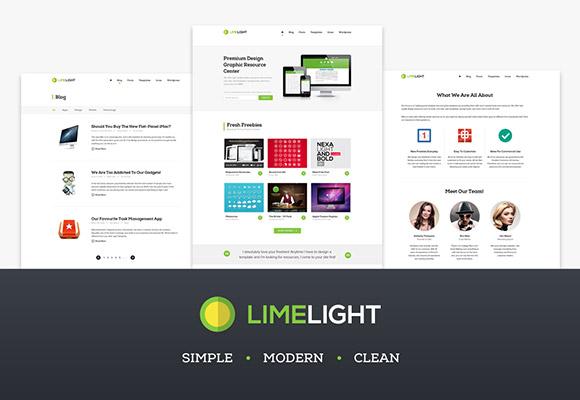 ライムライト - 無料の PSD web テンプレート