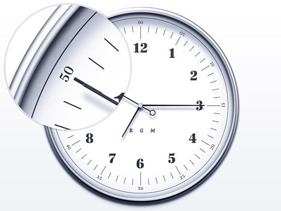 シンプルかつエレガントな時計 PSD