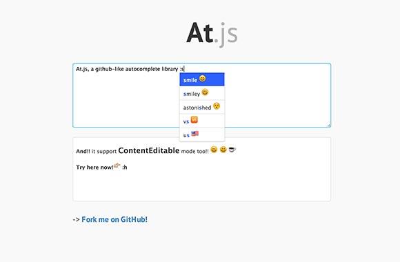 At.js - オートコンプリート ライブラリ