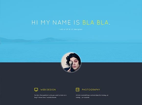 Bla の Bla のポートフォリオ - PSD テンプレート