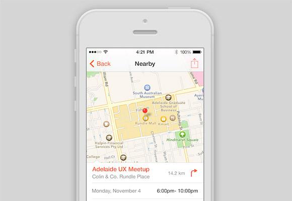 iOS7 イベント コンセプト アプリ
