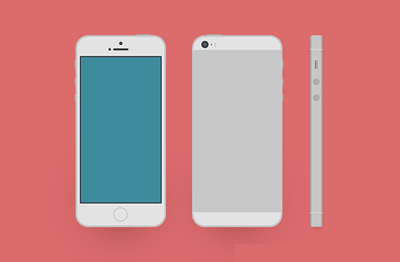 フラット iPhone5S のモックアップ