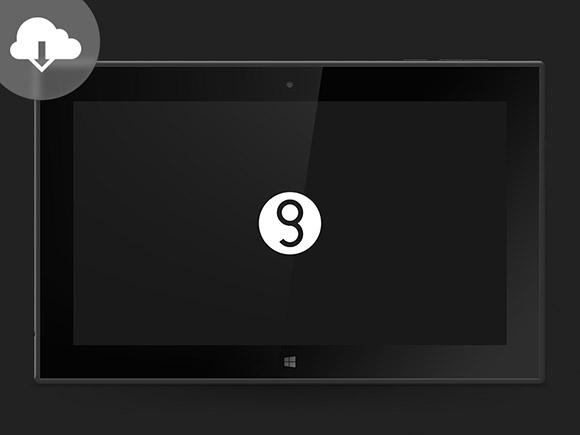 ノキア Lumia 2520 モックアップ