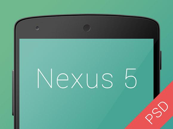 Nexus5 PSD モックアップ