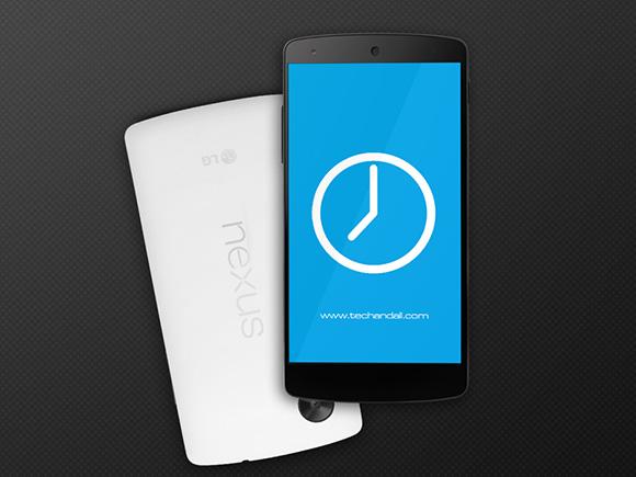 Google Nexus5 PSD モックアップ
