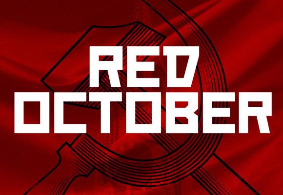 赤い 10 月のフリー フォント