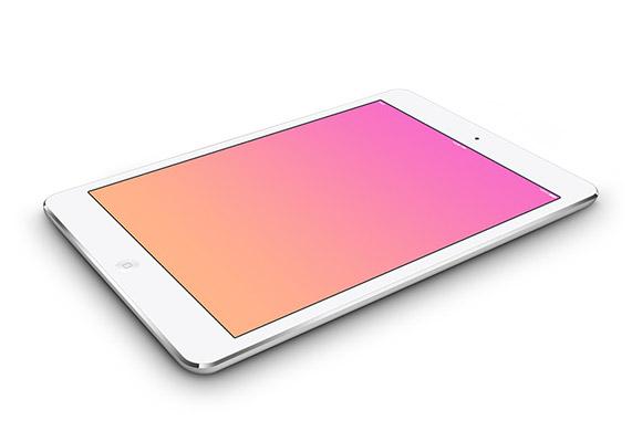 5 iPad ミニ PSD モックアップ