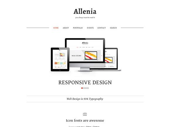Allenia - PSD のウェブサイト テンプレート
