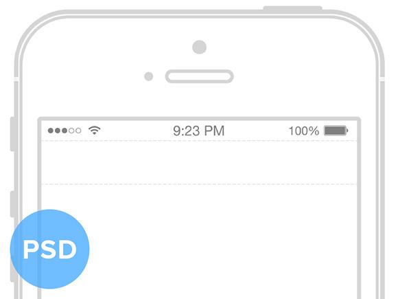 iPhone5S ワイヤ フレーム モックアップ
