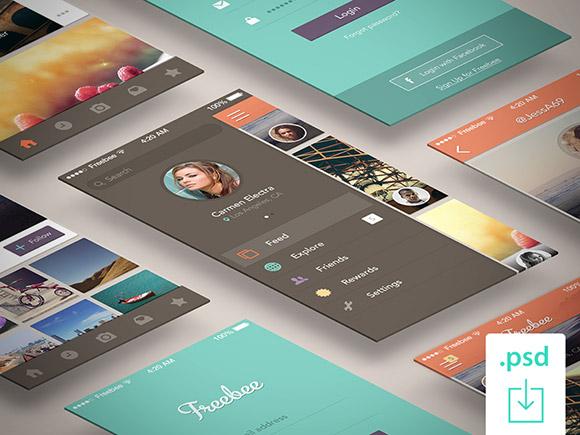 Freebee - 無料の PSD アプリのコンセプト