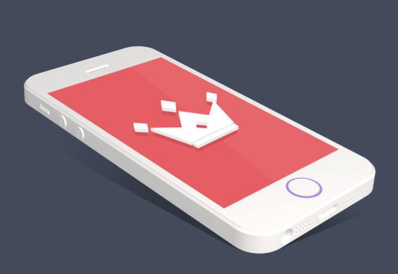 フラット iPhone 5S モックアップ