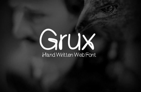 Grux - フリー手書きフォント