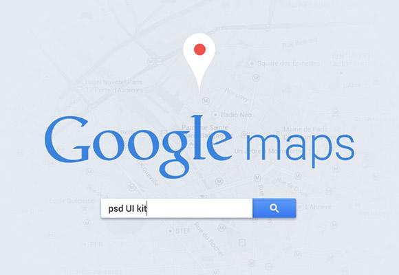 Google マップ UI PSD